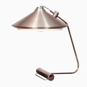 Große Verchromte Metall Tischlampe, 1970er