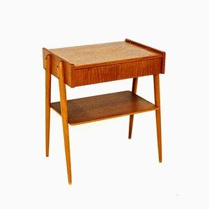 Comodino in teak e legno di faggio di Carlström & Co Möbelfabrik, Svezia, anni '60
