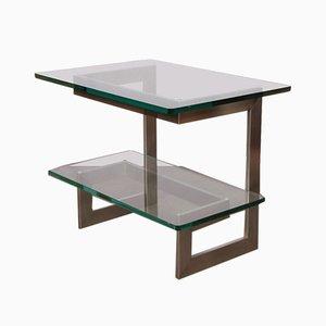 Metall & Glas Konsolentisch von Paul Legeard, 1970er