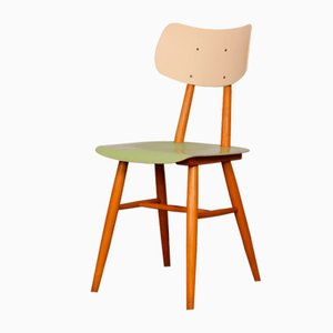 Wooden Dining Chair from TON, 1960s