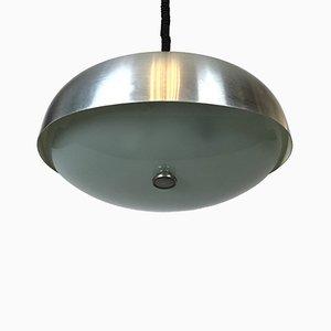 Lampada a sospensione grande con vetro regolabile di Oscar Torlasco per Lumi, Italia, anni '50