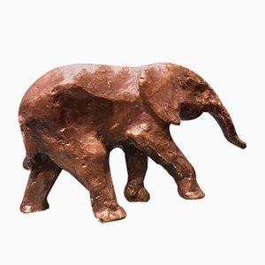 Sculpture Éléphant en Bronze par Hans Schröder