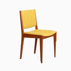 Dänischer Teak Stuhl mit Bezug, 1950er