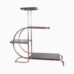 Vitrina Bauhaus cromada tubular de Emile Guyot, años 40