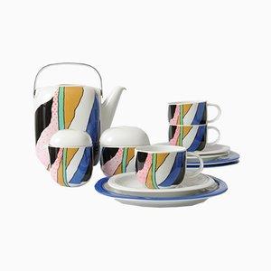 Servizio da caffè Suomi postmoderno di Timo Sarpaneva per Rosenthal, anni '80