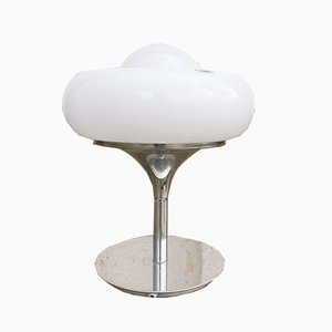 Lampada da tavolo Mid-Century bianca di Harvey Guzzini per Meblo, Italia, 1972