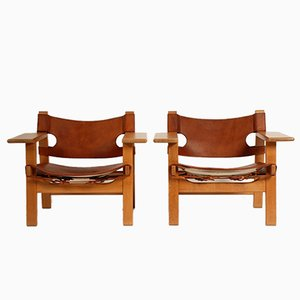 The Spanish Chair by Borge Mogensen for Fredericia, 1965, Set of 2