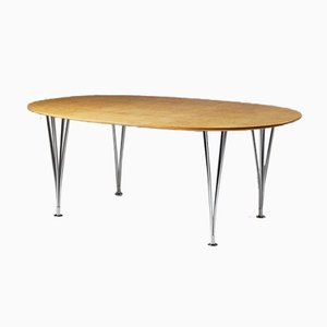 Dining table designed by Bruno Mathsson & Piet Hein for Mathsson International, Sweden, 1980's.