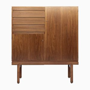 Mid-Century Cabinet with 2 Doors and 4 Drawers by Jos De Mey for Van Den Berghe Pauvers