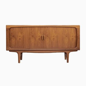 Mid-Century Danish Sideboard with Tambour Doors by Johannes Andersen for Silkeborg