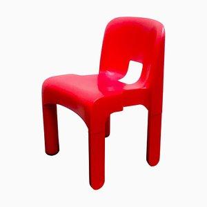 Roter Universale Kunststoff Stuhl von Joe Colombo für Kartell, Italien, 1967