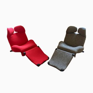 Wink Armchairs by Toshiyuki Kita for Cassina, Set of 2