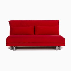 Red Fabric Multy 3-Seat Sofa Bed from Ligne Roset