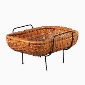 Dutch Rattan Basket, 1950s