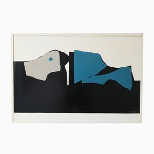 Abstract Painting by Ferdi Schools, 1970s