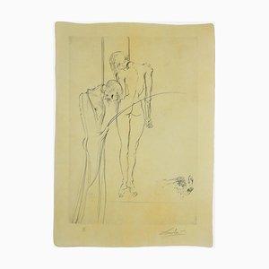 Salvador Dalí - Die Könige hängen in den Bäumen - Radierung und Kaltnadelradierung - 1973