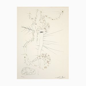 Salvador Dalí - Tristan le Fou - Gravure à l'Eau-Forte - 1969