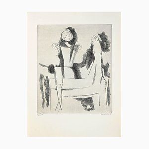 Marino Marini - The Idea Knight - Etching - 1958