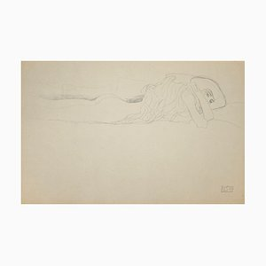 (after) Gustav Klimt - Study for Water Serpents - Collotype Print - 1919