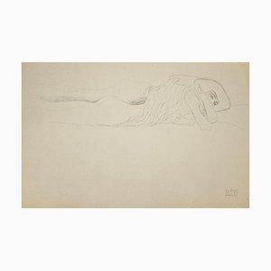 (segue) Gustav Klimt - Study for Water Serpents - Collotype Print - 1919