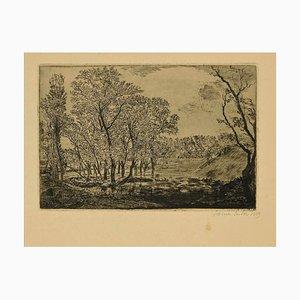 James Ensor - La Mare Aux Poplars - Radierung - 1889