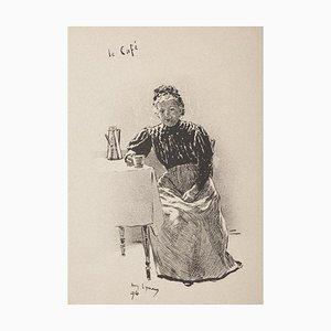 André Lynen - Le Café - Lithograph - 1896
