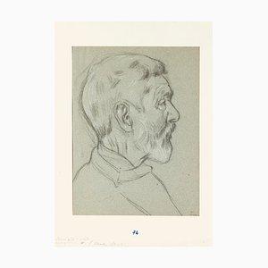Charles Walch - Portrait - Crayon Sur Papier - Début 20ème Siècle