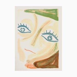 Virgilio Guidi - Portrait of The Countess - Lithograph - 1975s