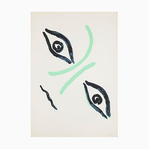 Virgilio Guidi - Countess Portrait - Lithograph - 1960s