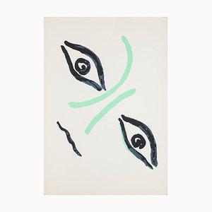 Virgilio Guidi - Gräfin Portrait - Lithografie - 1960er Jahre