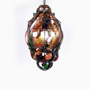 Vintage Multi-Colored Murano Glass Pendant Lamp, 1980s