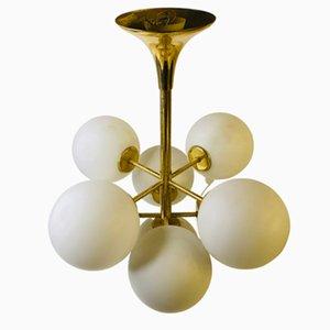 Goldene 2720 Deckenlampe von Temde, 1960er
