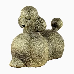 Poodle in Glazed Ceramic by Lisa Larson for K-Studion & Gustavsberg