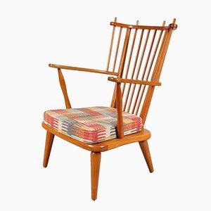 Vintage Buchenholz Beistellstuhl