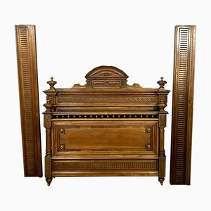 Louis XVI Walnut & Burr Bed, 1850