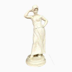 Statue in White Carrara von Alfred Boucher, 1900er