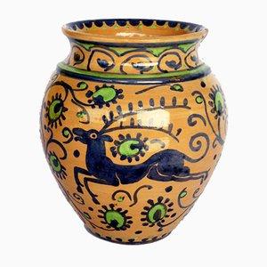 Italian Ceramic Vase from Cassandrini, 1920s