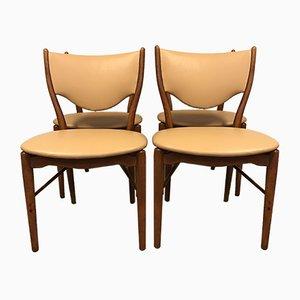 Esszimmerstühle von Finn Juhl für Bovirke, 1950er, 4er Set
