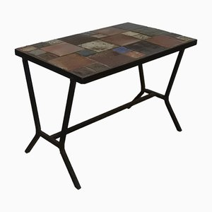 French Metal & Sandstone Side Table, 1960s