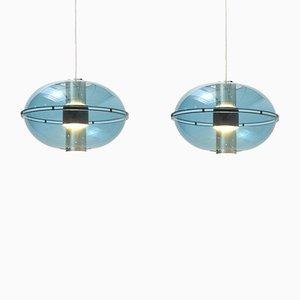 Mid-Century Orbiter Ceiling Lamps for Raak, 1960s, Set of 2