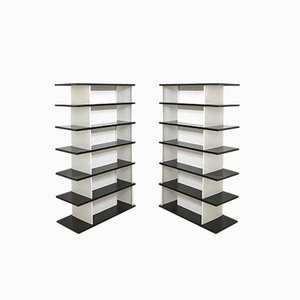 Mid-Century Dutch Steel Shelves by Wim Rietveld,1960s, Set of 2