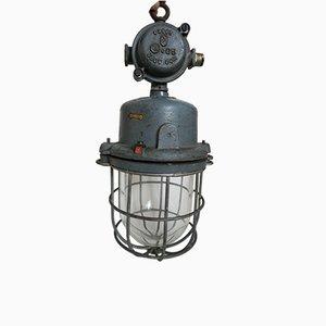 Deutsche Industrielle Bunkerlampe von Adolf Schuch KG, 1930er