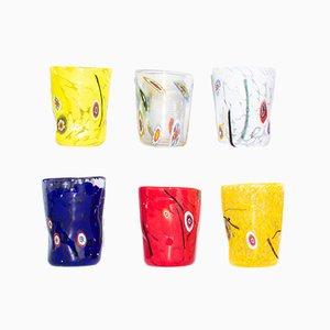 Vasos de cristal de Murano de Vrm. Juego de 6