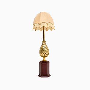 Vintage French Brass Table Lamp, 1970s