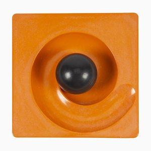 Cendrier Orange Spyros Mid-Century par Eleonore Peduzzi Riva pour Artemide, 1960s