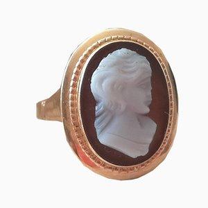 Antiker 18 K Gelbgold Kamee Ring
