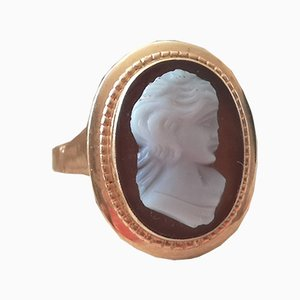 Antique 18K Yellow Gold Cameo Ring