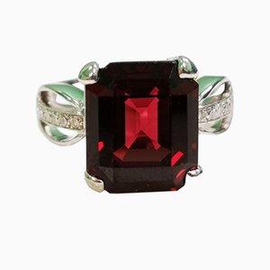 18 Karat Ring in Weißgold & mit Diamanten