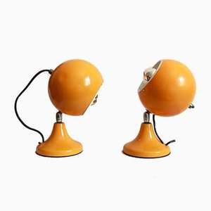 Italian Space Age Senape Table Lamps, 1960s, Set of 2