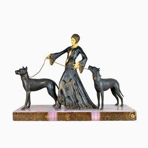 Sculpture Les Gardiens Polychrome par G. Gori